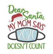 Christmas humour lettering  - masked christmas - 2020 doesn't count applique