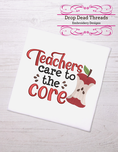 End of school - Teachers care to the core 3 sizes
