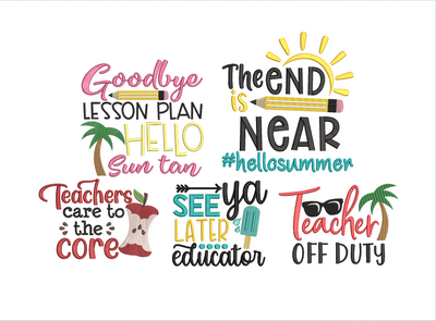 End of school 5 part full collection bundle one design free