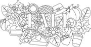 Fall word art embroidery machine design file 2 sizes included seasons