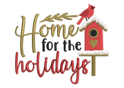 Rustic home for the holidays winter christmas embroidery machine design file 3 sizes included