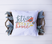 Home lettering - let's stay home 3 sizes