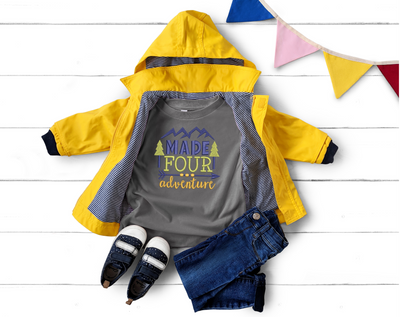 Made Four Adventure Child Birthday Shirt Design