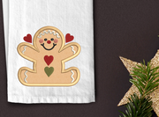 Rustic gingerbread applique christmas winter christmas embroidery machine design file 3 sizes included