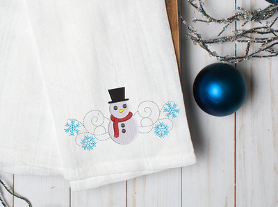Simple snowman christmas winter christmas embroidery machine design file 4 sizes included