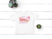 I'm Two Sweet Child Toddler Baby Birthday Shirt Onesie Design With Applique