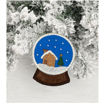 Holiday hugs week - ITH Christmas Snowglobe ornament 4x4