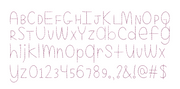 Madeline Bean Stitch font, BX format Fully scalable 30mm-200mm