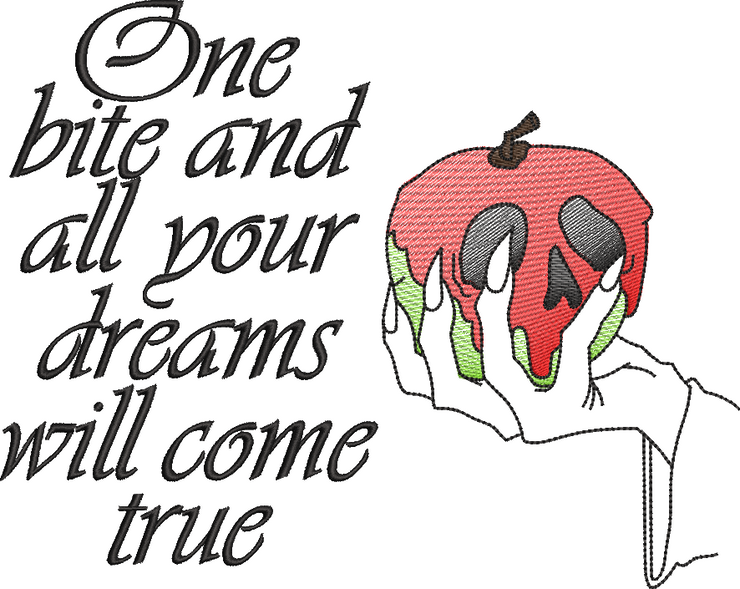 Snow White poisoned apple reading pillow design 4 styles