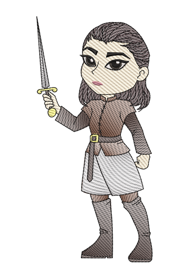 Arya Stark sketch game of thrones inspired