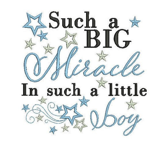 baby boy quote for embroidery machine design file 3 sizes great for newborn onesie vest bib blanket etc instant file download all formats