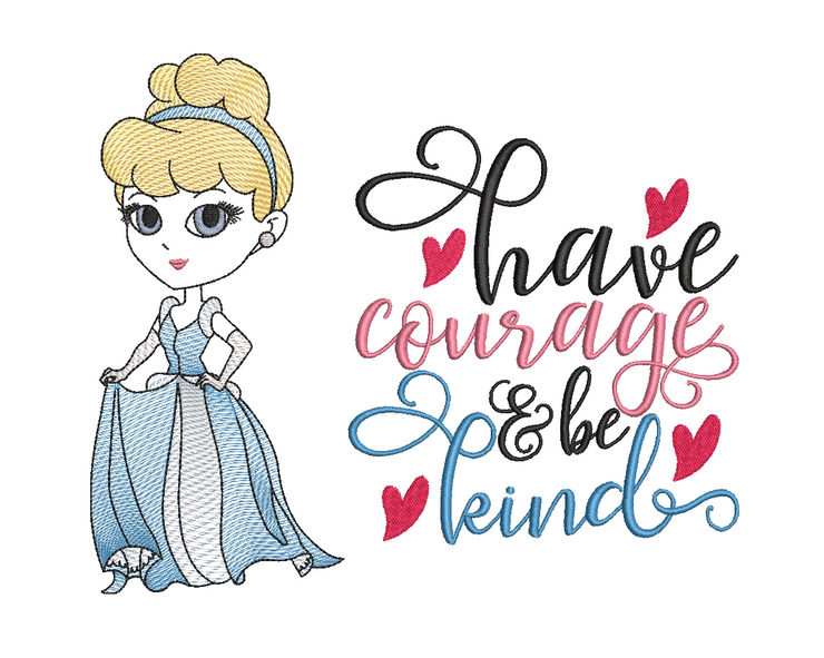 Cinderella sketch reading pillow design 3 sizes