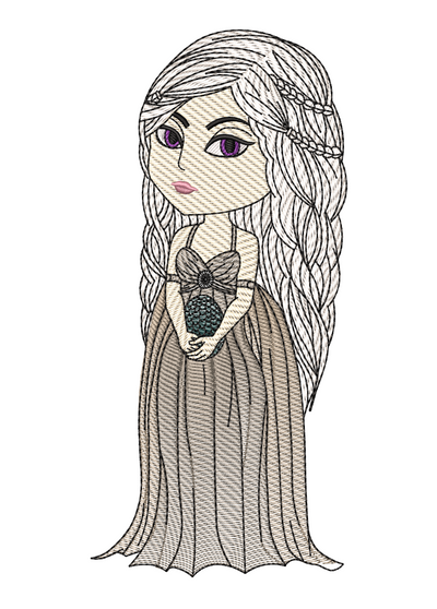 Daenerys Targaryen sketch game of thrones inspired