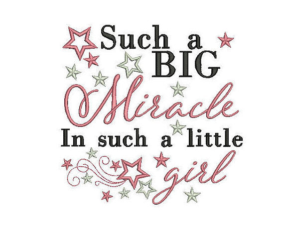baby girl quote embroidery machine design file newborn brother janome etc 3 sizes
