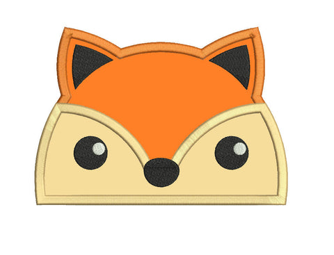 Fox peeker applique design embroidery machine design file sizes