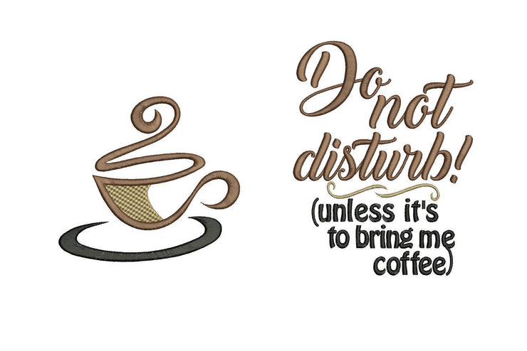 adult coffee cup reading cushion book pocket pillow embroidery machine design file image and quote 3 sizes included instant download