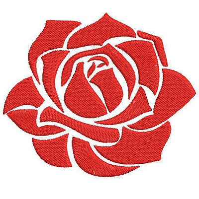 rose embroidery machine design file 2 sizes insant download all machine formats pes dst brother janome singer etc