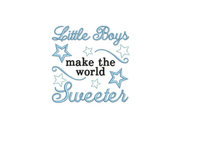 baby boy quote embroidery machine design file newborn blanket onsie vest bib etc 3 sizes all popular formats instant download