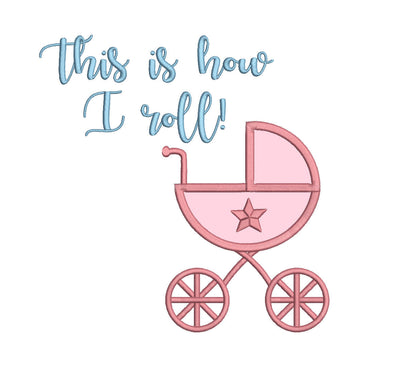 baby boy girl quote with applique embroidery machine design file newborn blanket onsie vest bib etc 3 sizes all popular formats