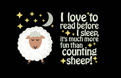 bedtime counting sheep reading cushion book pocket pillow embroidery machine design file applique and quote 3 sizes included