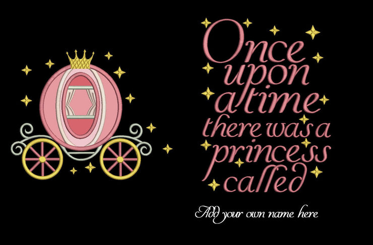 no font two styles included add your own name princess once upon a time reading cushion book pocket pillow embroidery machine design file