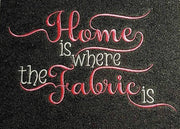 home is where the fabric is adult reading cushion book pocket pillow embroidery machine design file image and quote 2 sizes instant download