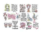 entire collection bundle design pack Alice In Wonderland cushion book pocket pillow embroidery machine design files