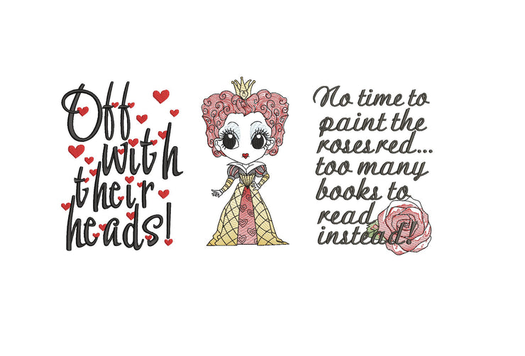 2 versions included queen of hearts Alice In Wonderland reading pillow design 3 sizes