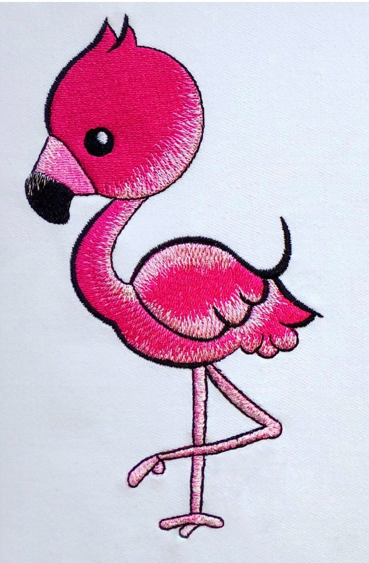 fabulous flamingo cushion book pocket pillow embroidery machine design file and quote 3 sizes included instant download