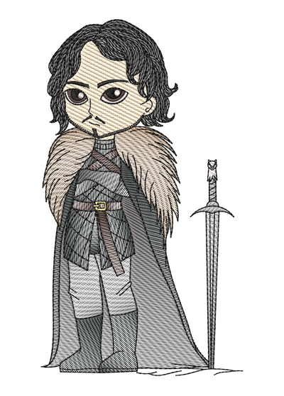 Jon Snow sketch game of thrones inspired