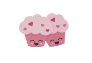 Cute kawaii cupcake muffin embroidery machine design file 4 sizes included all machine formats instant download