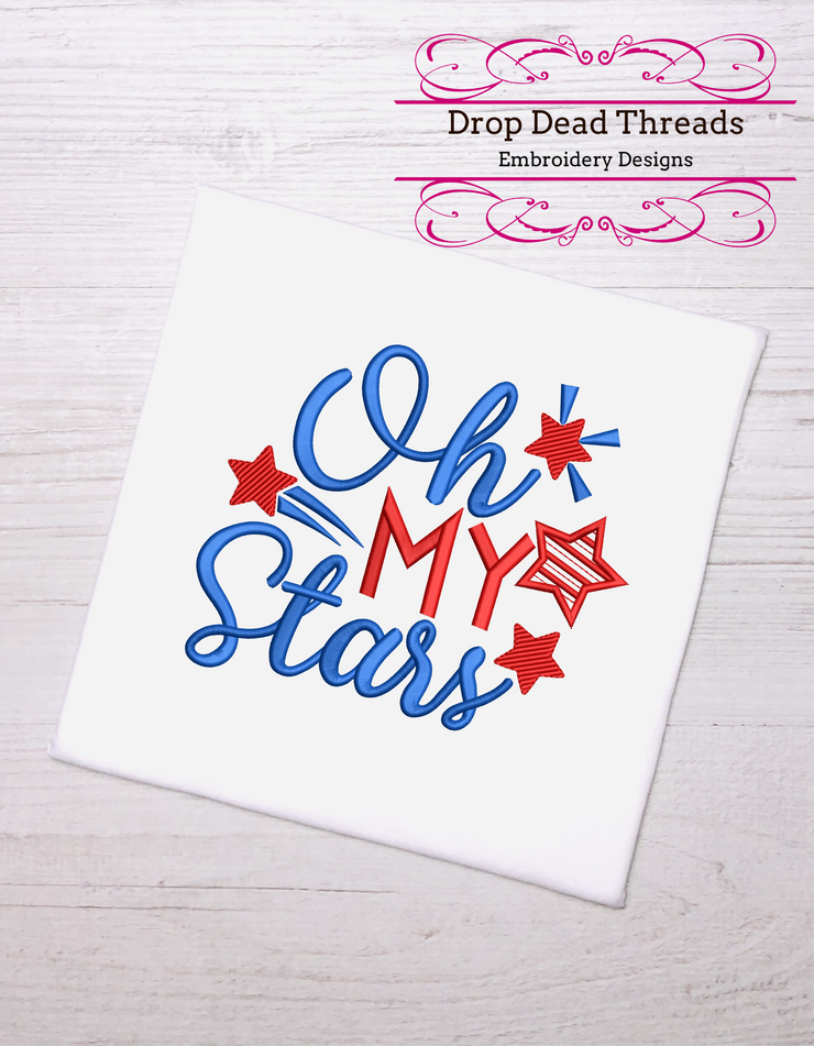 Patriotic Oh my Stars quote 3 sizes