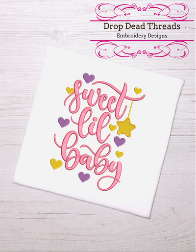 baby quote for embroidery machine design file 3 sizes great for newborn onesie vest bib blanket etc instant file download all formats 1