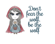 Little red riding hood sketch three sizes two text versions included reading pillow design