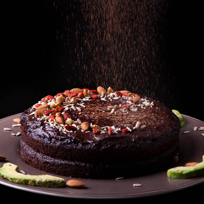 Avocado, Beetroot, Chocolate and Cricket Cake