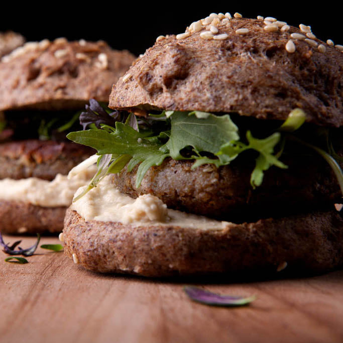 Primal Cricket Powder Falafel Burger