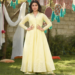 Cream Yellow Kurta Set