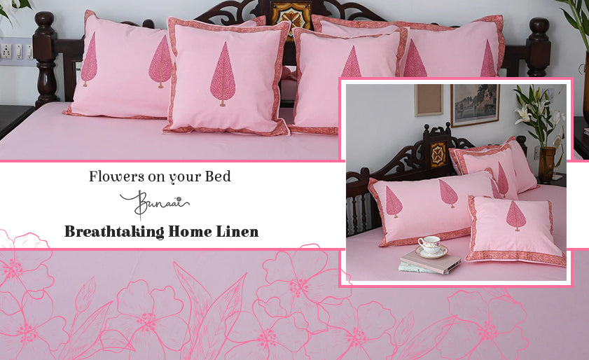 5 Flowers on your Bed - Bunaai's Breathtaking Home Linen