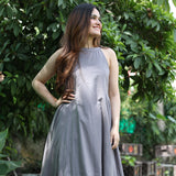Earthy Grey Cotton Kurta Set