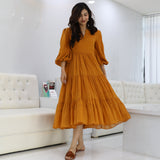 Pumpkin Tier Mulmul Dress