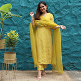 yellow suit for women online
