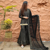 Moonlight Black Sharara Set