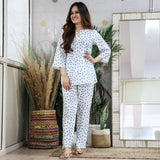 Blue Polka Dot Cotton Set