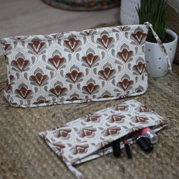 Handmade Printed Pouch with Zip (R)