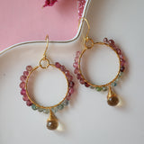 Multi Colored Silver Hook earrings