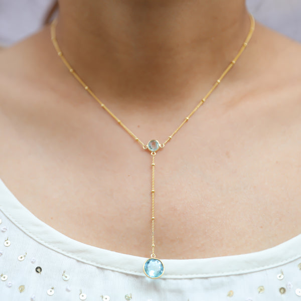 Lisa Blue Topaz Necklace