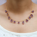 Necklace with Amethyst Rough Stone