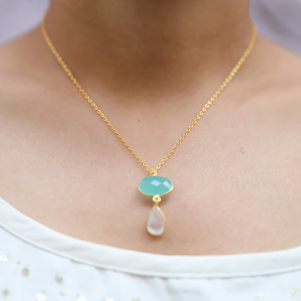 Alannah Blue White Necklace