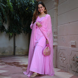 get amazing quality cotton suit set online,get amazing quality pink colored cotton suit set omline