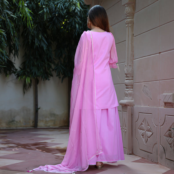shop pink cotton suit set online at best prices